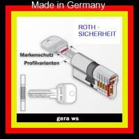 Schliesszylinder GERA WS mit Sicherungskarte, 3 Bohrmuldenschlüssel - Bild vergrößern