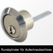Aussenzylinder  (Rundzylinder) für Zusatzkastenschloss BKS 5912 ISEO